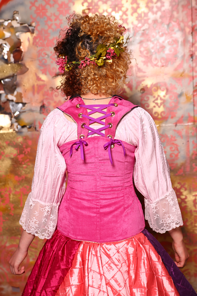 Voyager Corset in Bubblegum Pink with Lace Details