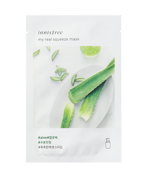 Innisfree My Real Squeeze Mask Sheet 5pcs - Aloe