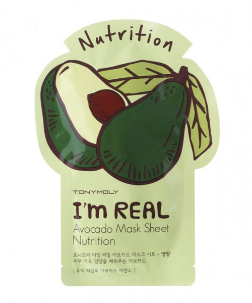 Tony Moly I'm REAL Avocado Mask Sheet Nutrition