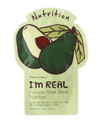 Tony Moly I'm REAL Avocado Mask Sheet Nutrition - 5 pcs