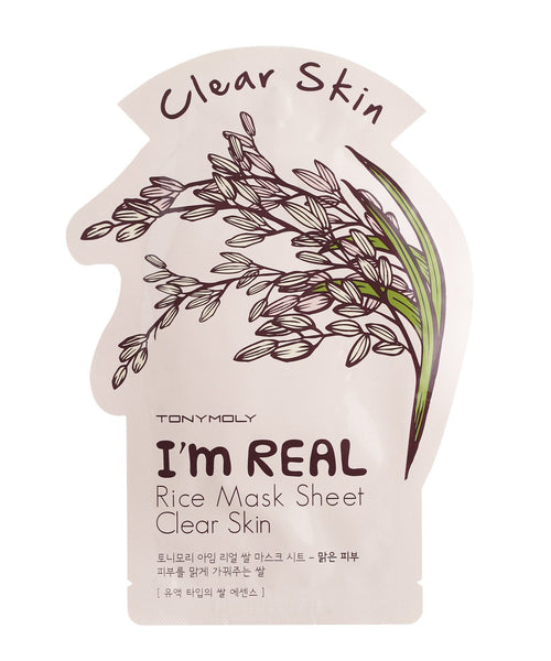 Tony Moly I'm REAL Rice Mask Sheet Clear Skin