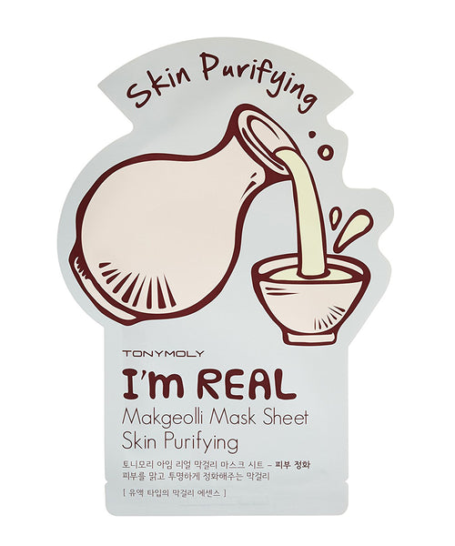 Tony Moly I'm REAL Makgeolli Mask Sheet Skin Purifying - 5 pcs