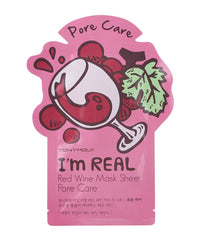 Tony Moly I'm REAL Red Wine Mask Sheet Pore Care - 5 pcs