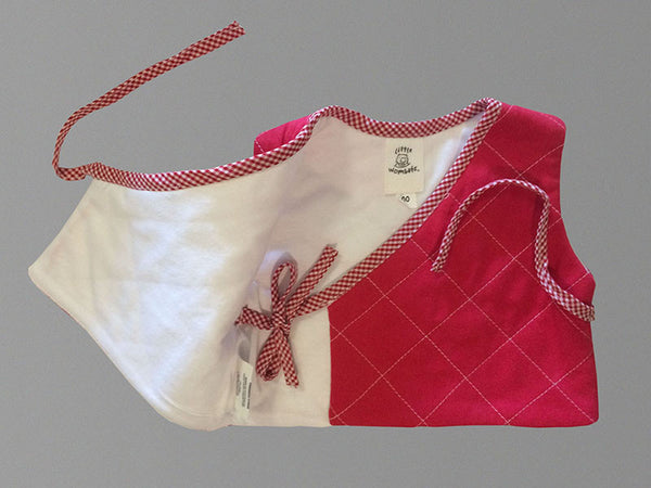 Little Wombats Organic Cotton Quilted Vest with Gingham Trim