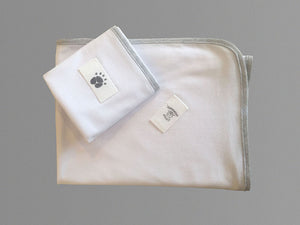 Little Wombats Organic Cotton Lightweight Blanket and Double Layered Burp Cloth