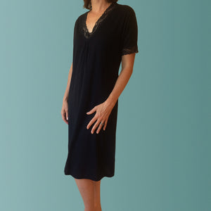 Hayman Winter Nightgown Black