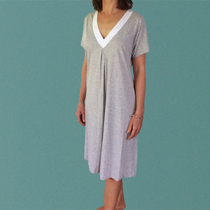 Rotto Winter Organic Cotton Nightie in Grey Marle or Sky Blue