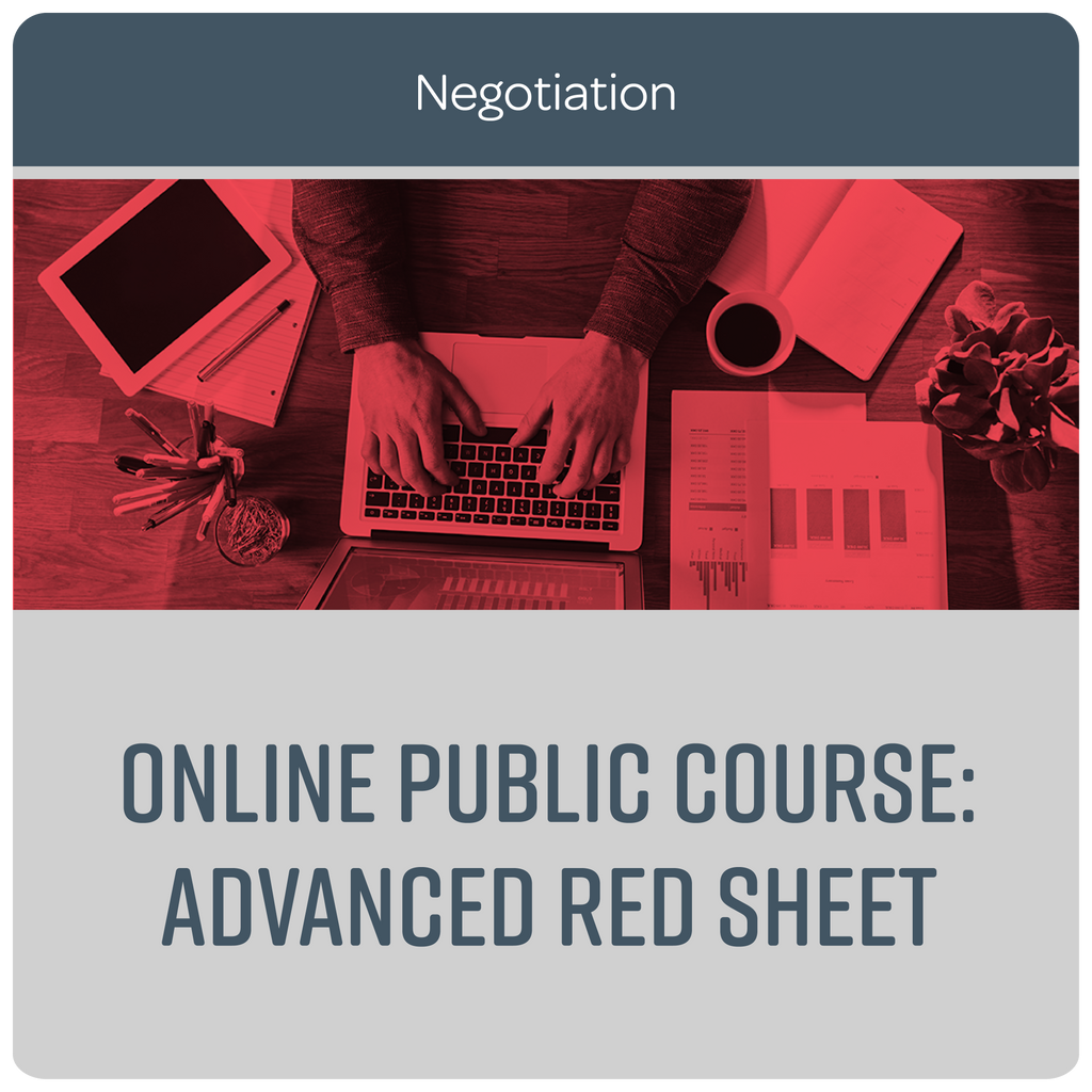 Online Public Course: Advanced Red Sheet® - October/November 2020