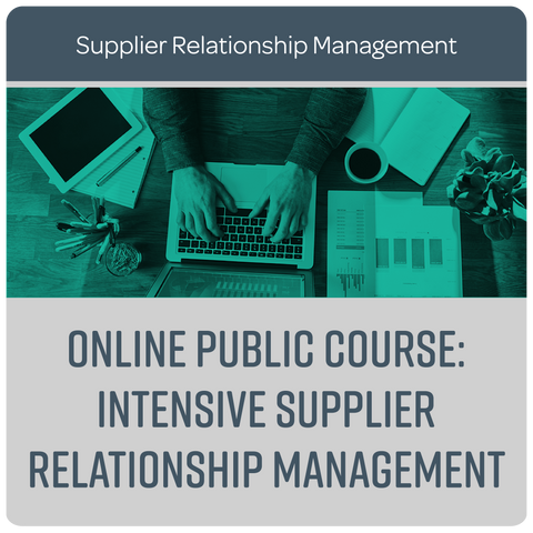 Online Public course: Intensive Supplier Relationship Management - September 2020