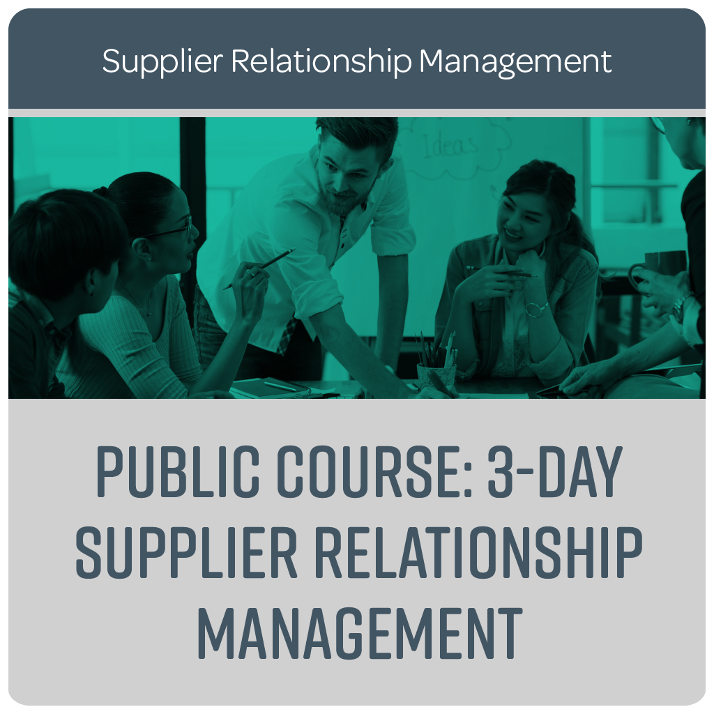 Public Course: 3-Day Supplier Relationship Management