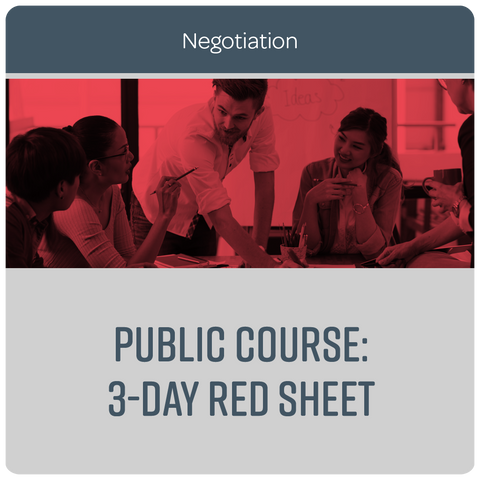 Public Course: 3-Day Red Sheet Negotiation - March 2019