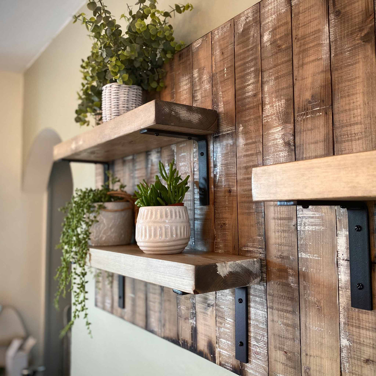 Rustic Wall Shelves Paneling