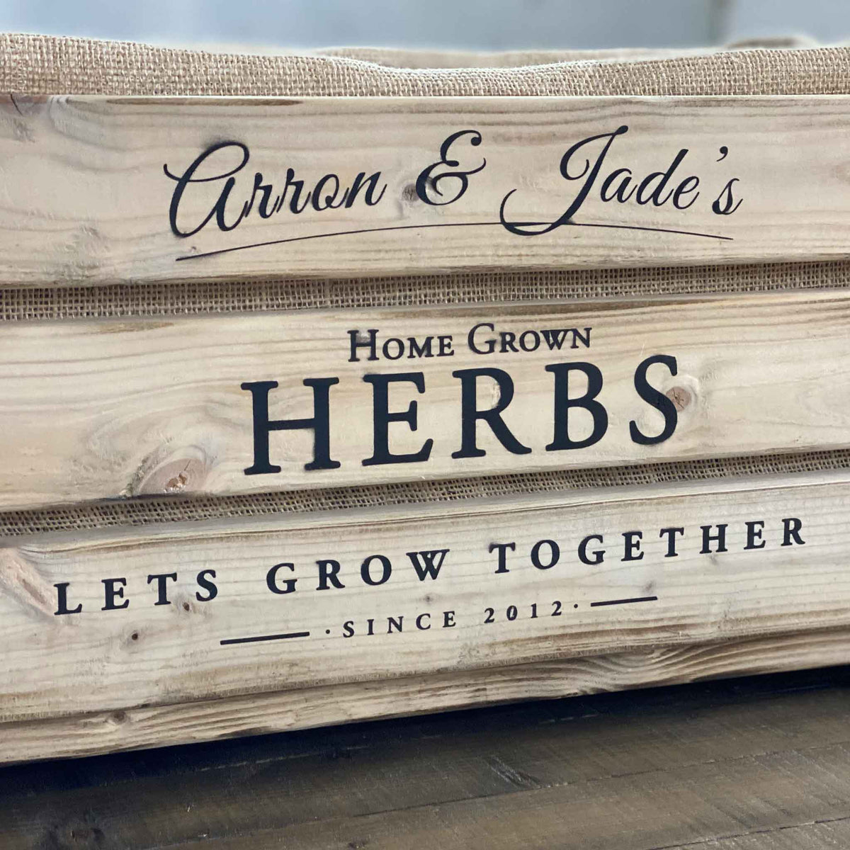 Rustic Fruit Crate Herb Planter | Personalised