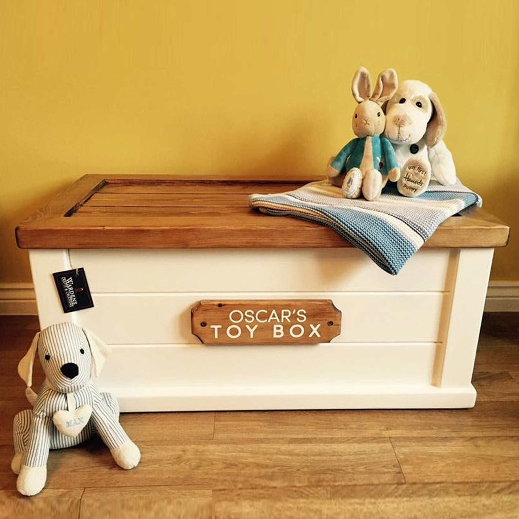 Warden's Crafts & Creations - Personalised Toy Box - Medium - Paint & Wax