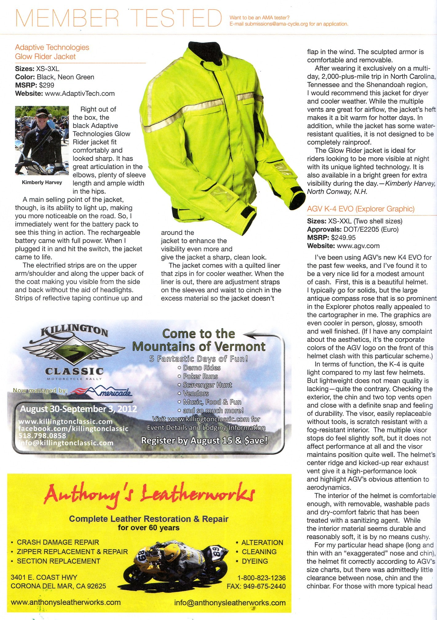 American Motorcyclist Magazine September 2012