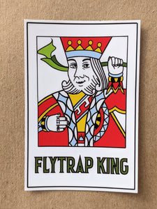 "King of Flytraps, 2"" x 3"" vinyl sticker"