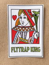 Load image into Gallery viewer, All five Flytrap King vinyl stickers!