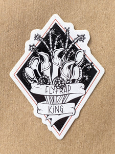 "Diamond bouquet, 2"" x 2.5"" vinyl sticker"