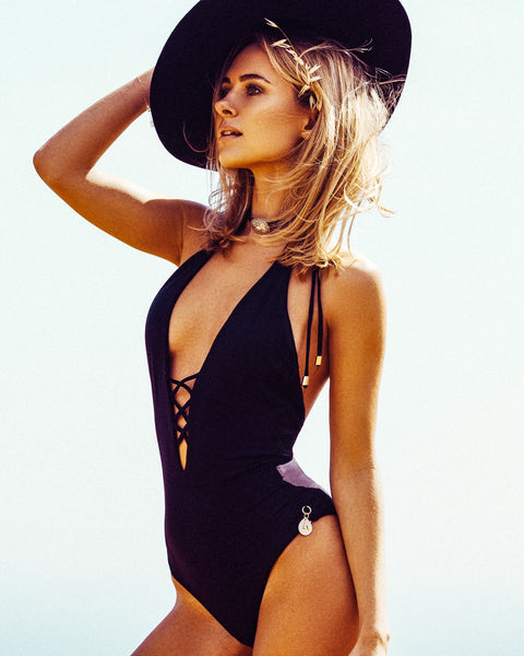 Monsoon Lace-Up One-Piece