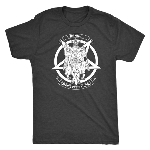 Baphomet Pentagram - White Print - Men's T-shirt