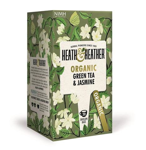 Organic Green Tea & Jasmine 20 Bag