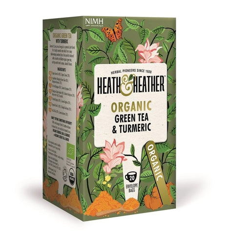 Organic Green Tea & Turmeric 20 Bag