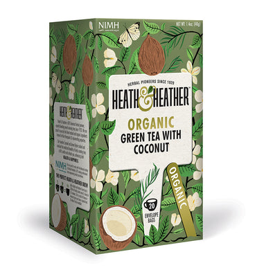 Organic Green Tea with Coconut 20 bags