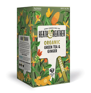 Organic Green Tea & Ginger 20 bags