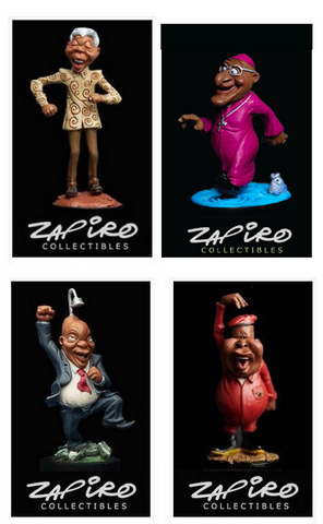01 - Collection  of Four (Madiba-Zuma-Juju-Tutu)