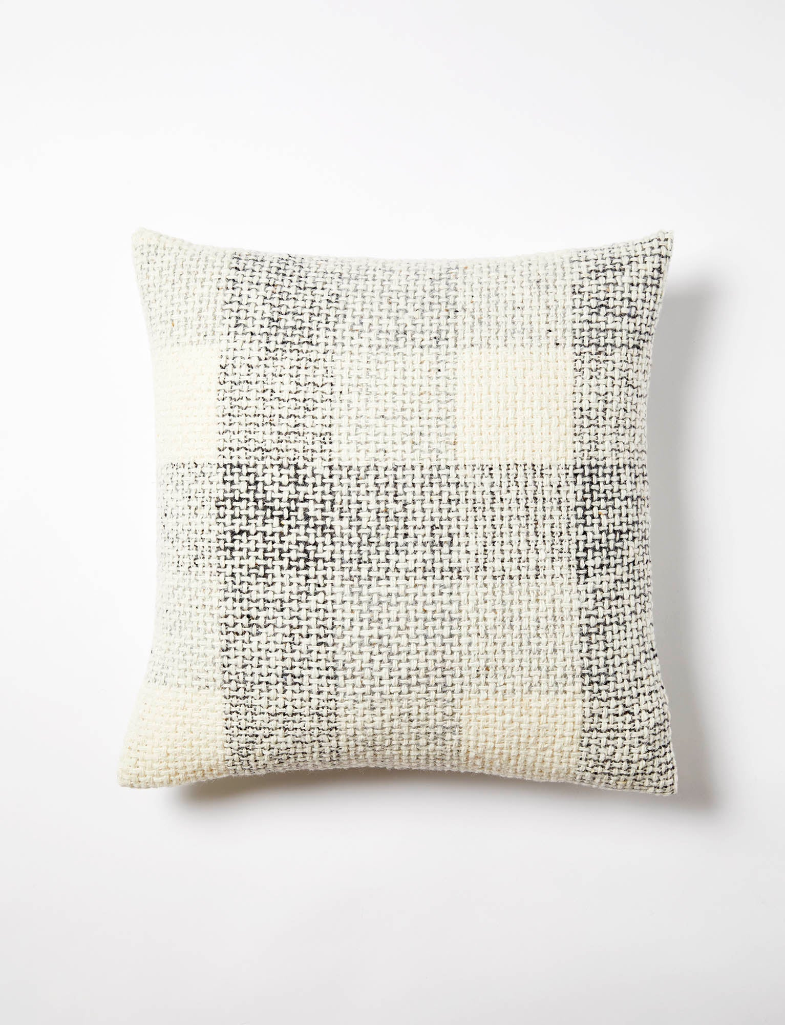 Mended Tweed Cushion - Grey Sampler