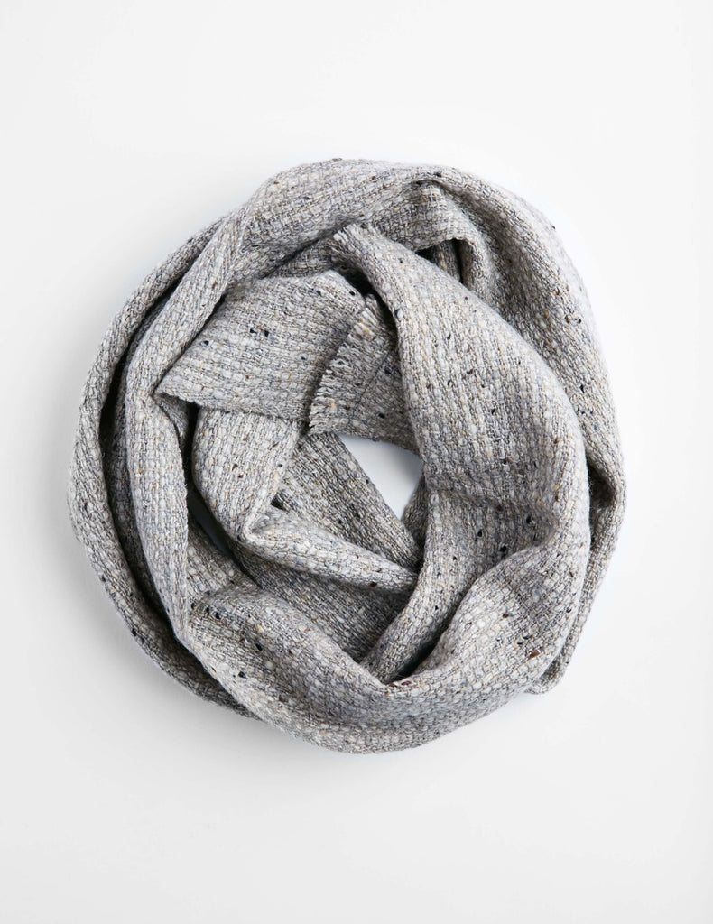 Tweed Emphasize Neck Warmer - Ash