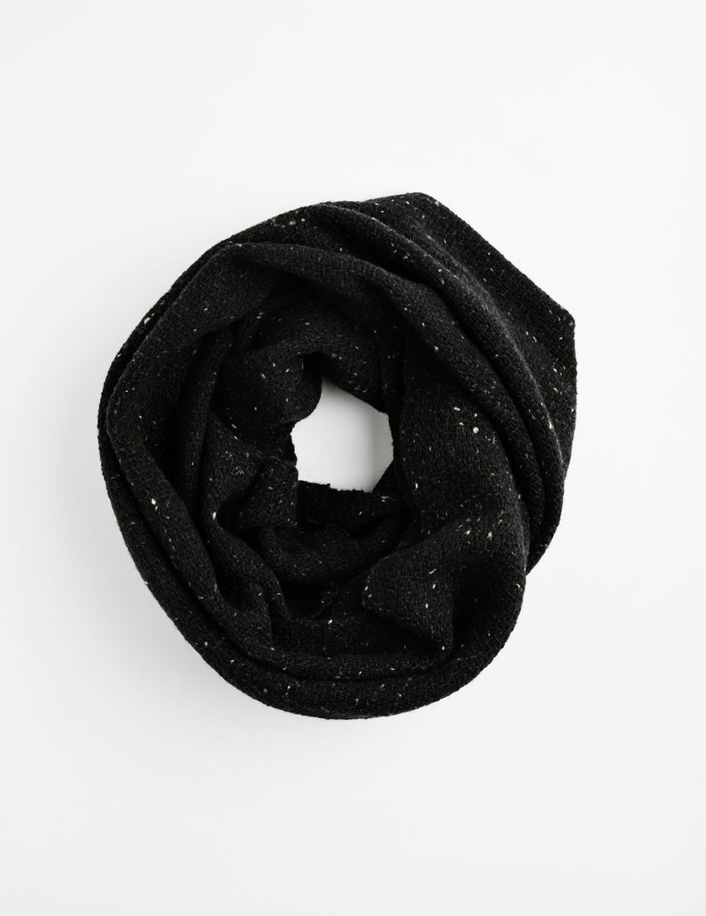Tweed Emphasize Neck Warmer  - Black