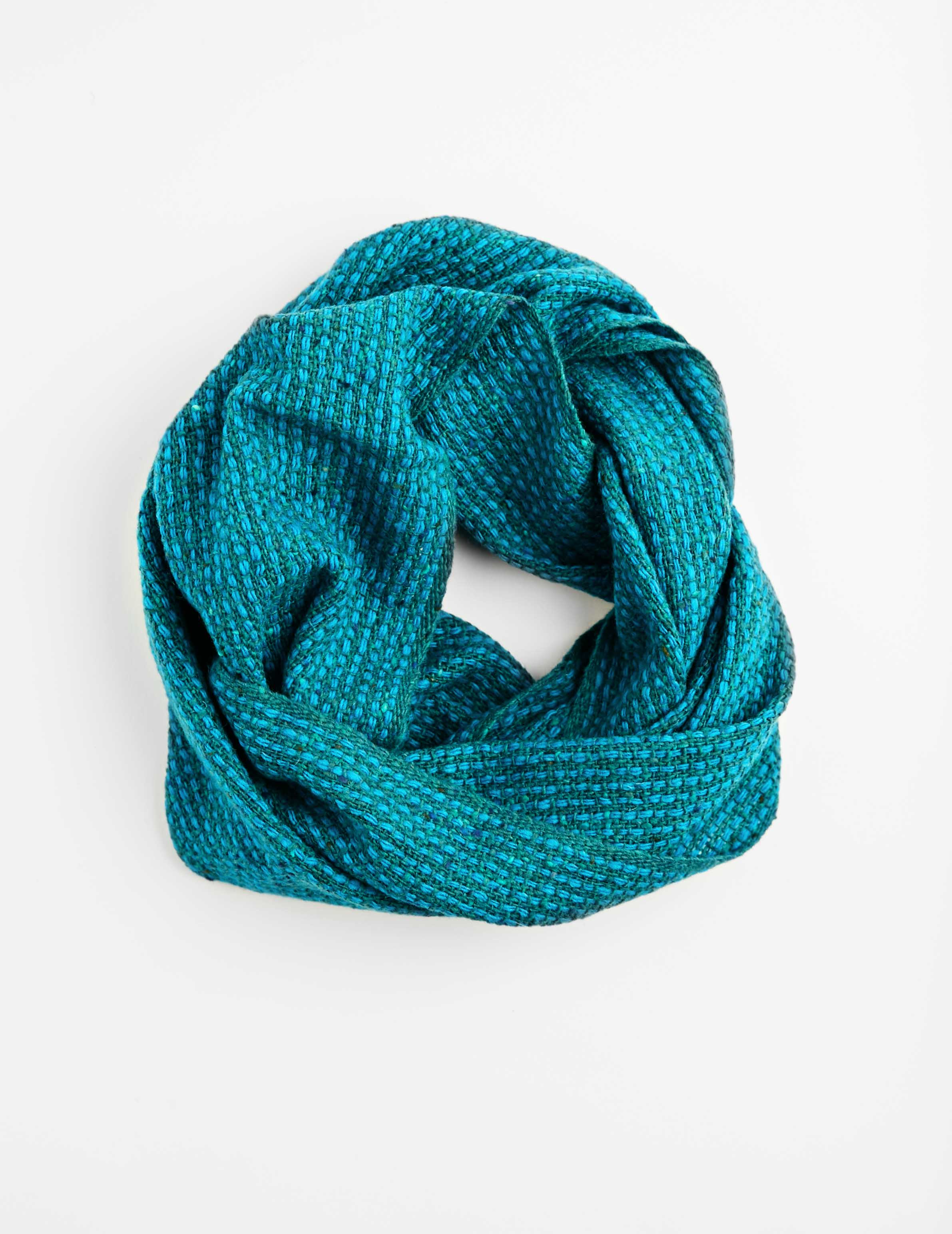 Tweed Emphasize Neck Warmer - Soft Blue