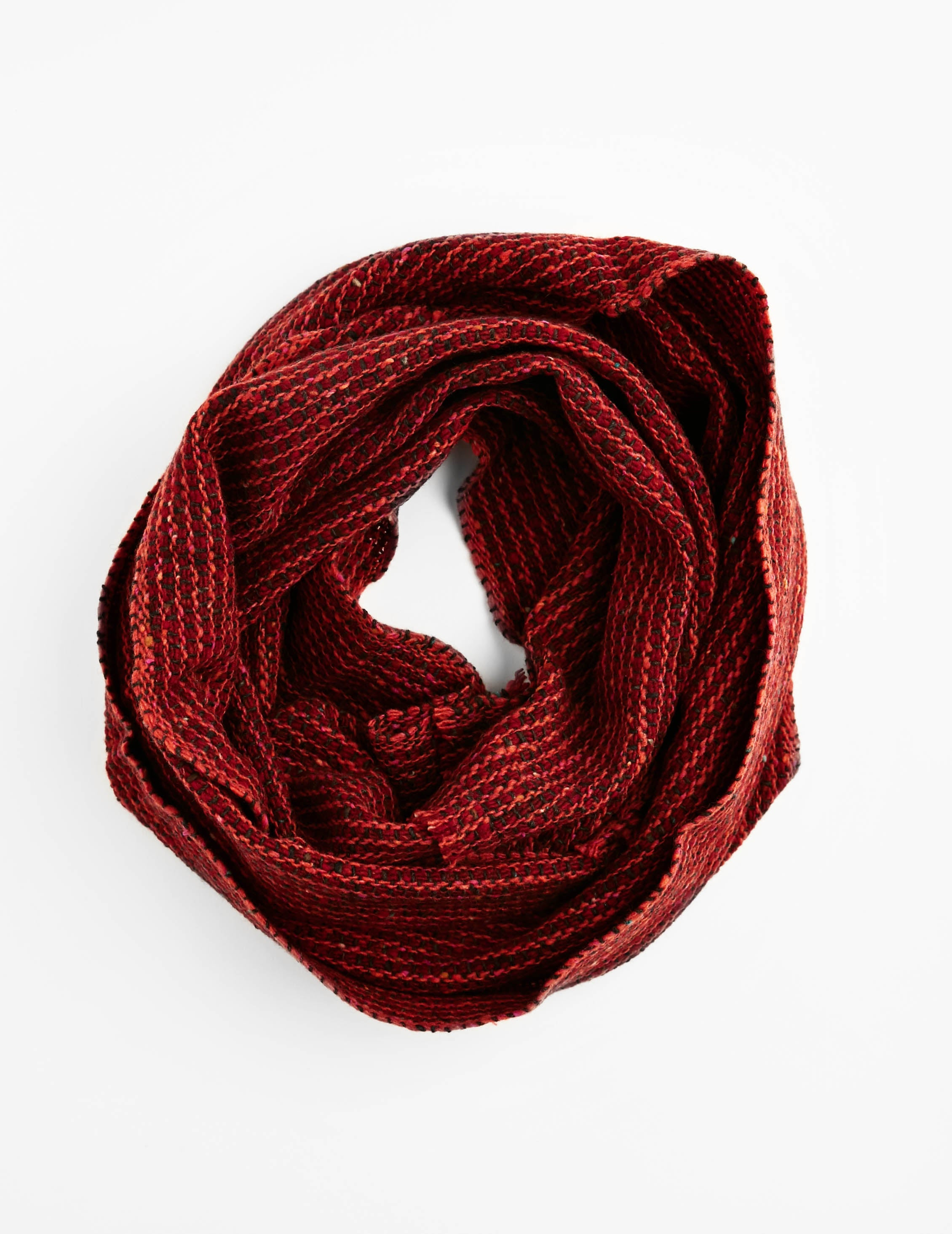 Tweed Emphasize Neck Warmer - Burnt Orange