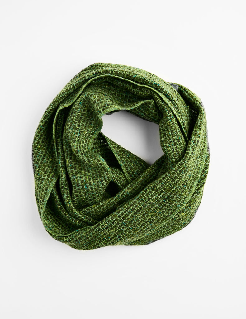 Tweed Emphasize Neck Warmer - Moss