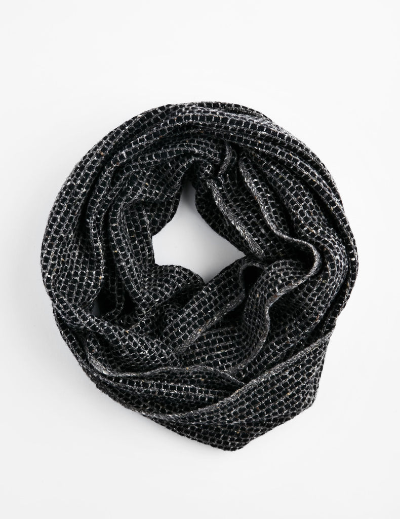 Tweed Emphasize Neck Warmer - Graphic Grey