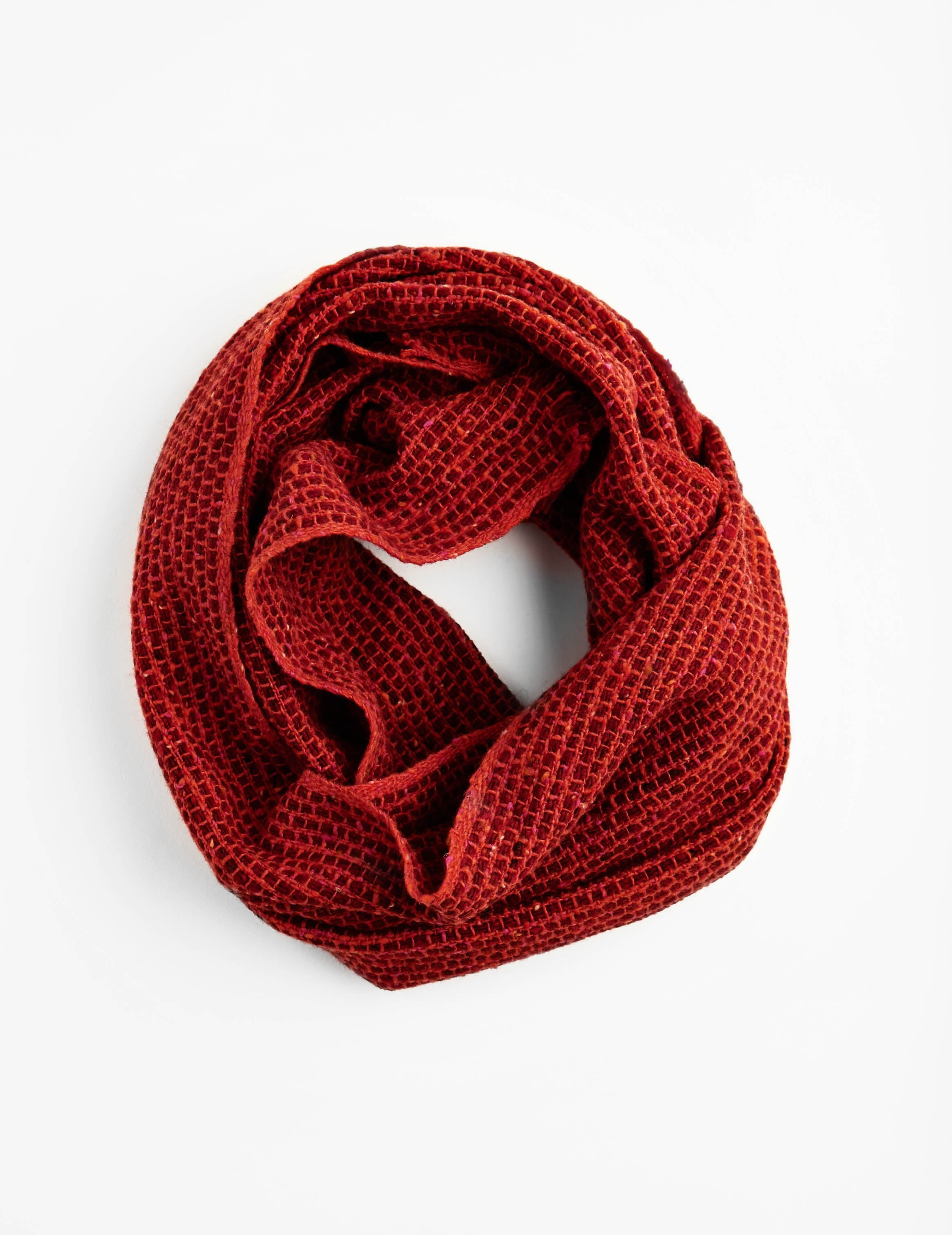 Tweed Emphasize Neck Warmer - Graphic Orange