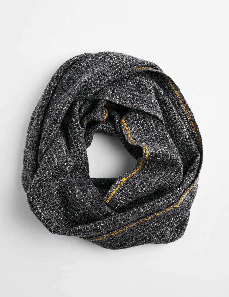 Tweed Emphasize Neck Warmer - On the Road - Single Yellow