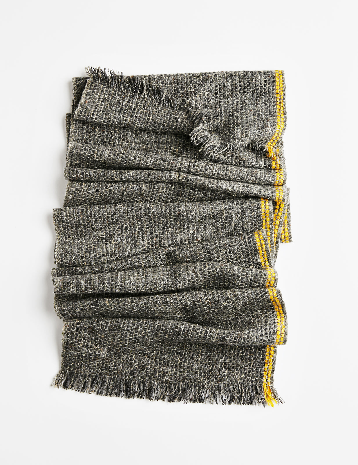 Tweed Emphasize Scarf - On The Road - Double Yellow