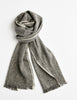Tweed Emphasize Scarf - On The Road - Single White