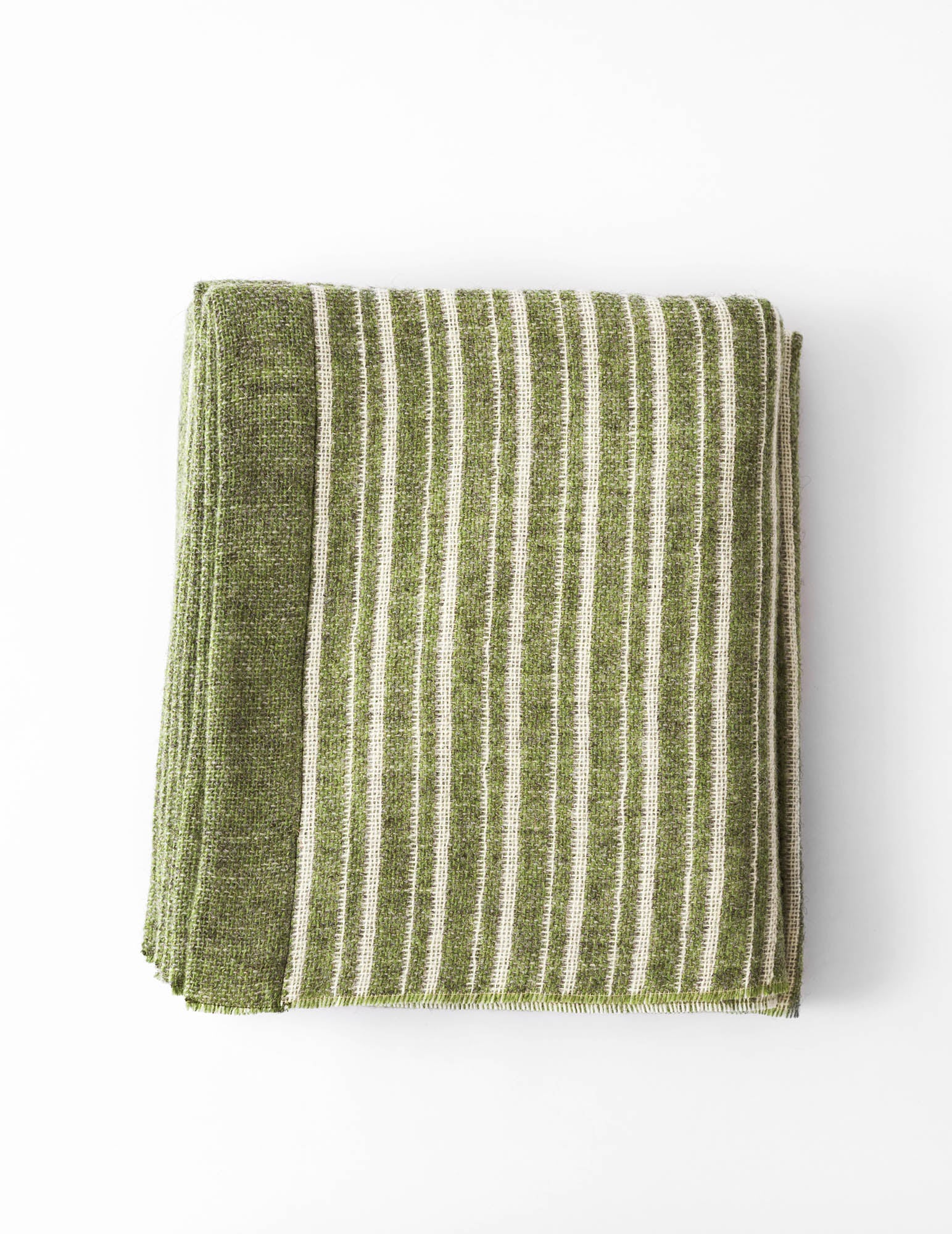 Maldwyn Stripe Blanket - Soft Green