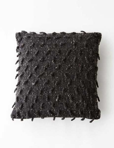 Shaggy Dog Cushion - Charcoal Grey 45 x 45 cms