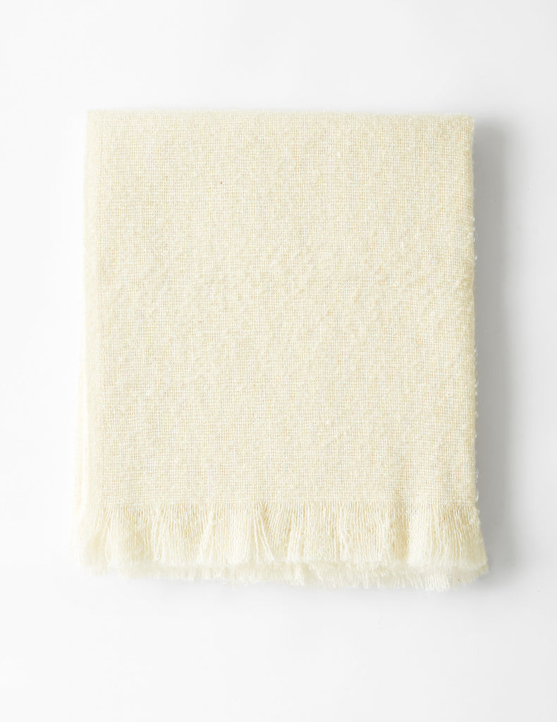 Mohair Loop Throw - Natural White