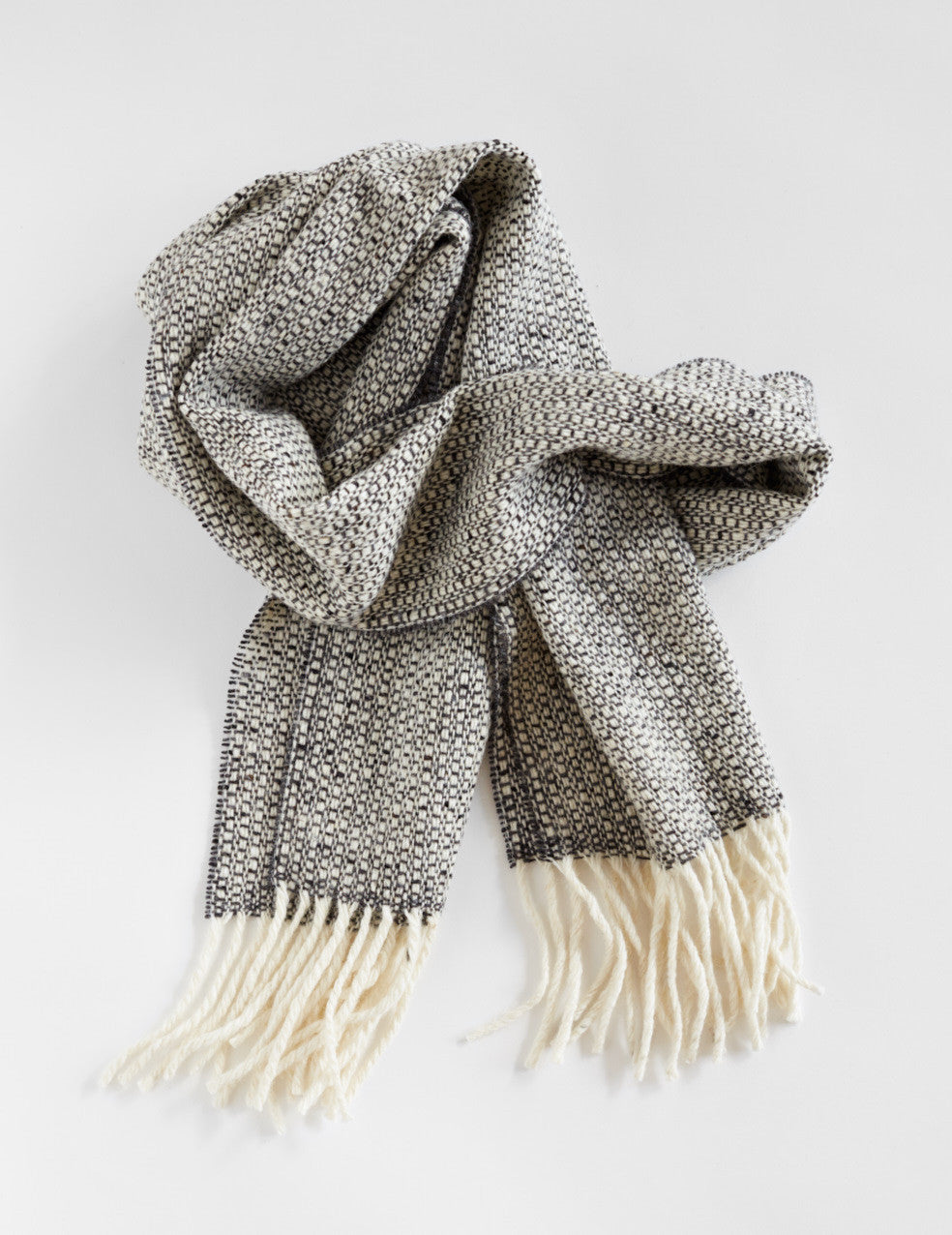 Tweed Emphasize Scarf - Charcoal Grey - Narrow