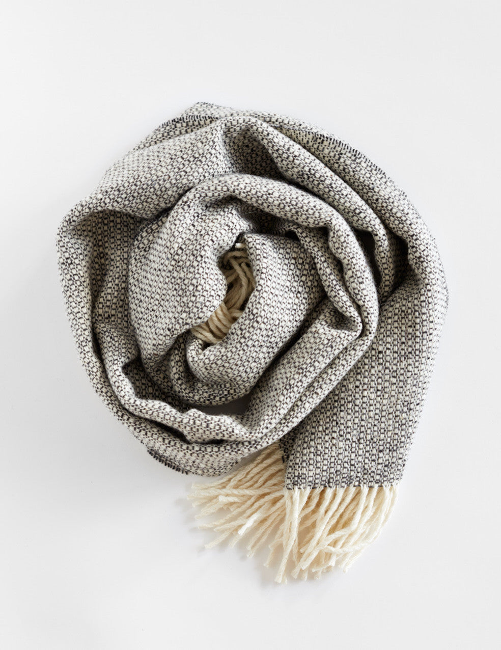 Tweed Emphasize Scarf - Charcoal Grey - Wide