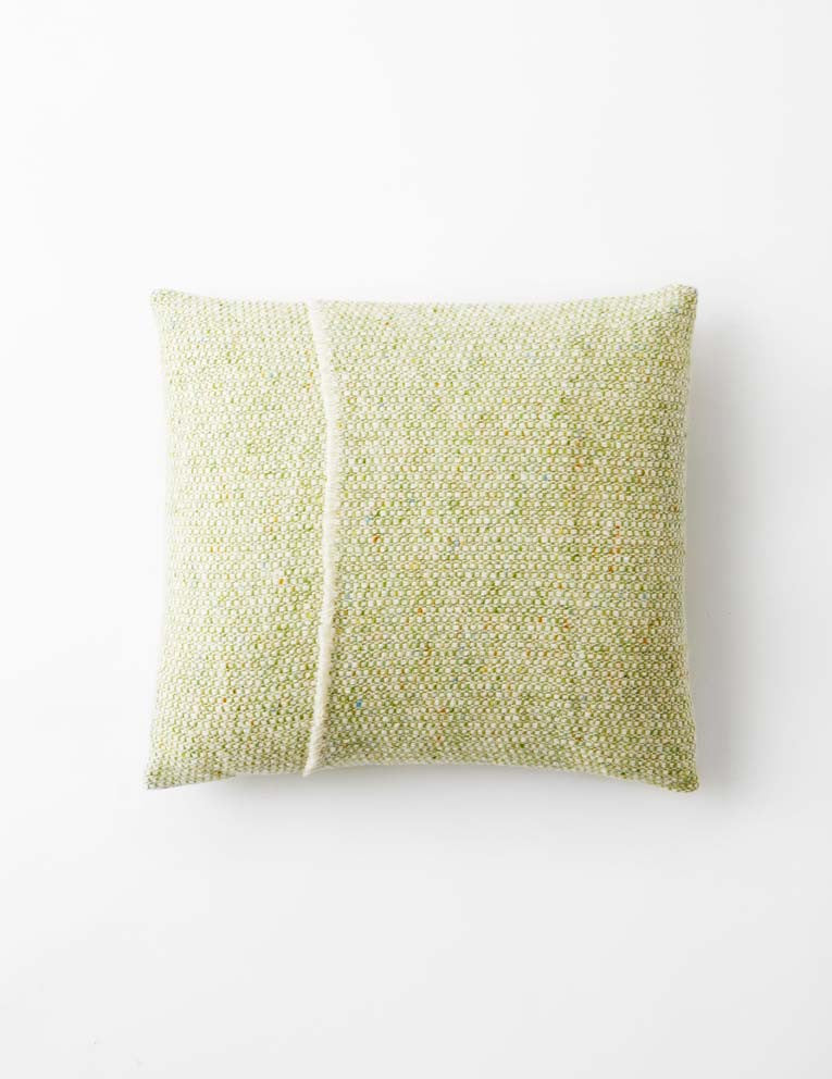 Tweed Emphasize Cushion - Apple Green