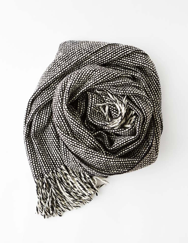 Tweed Emphasize Scarf - Monochrome II - Wide