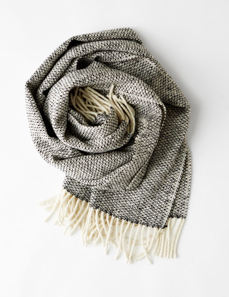 Tweed Emphasize Scarf - Monochrome I - Wide