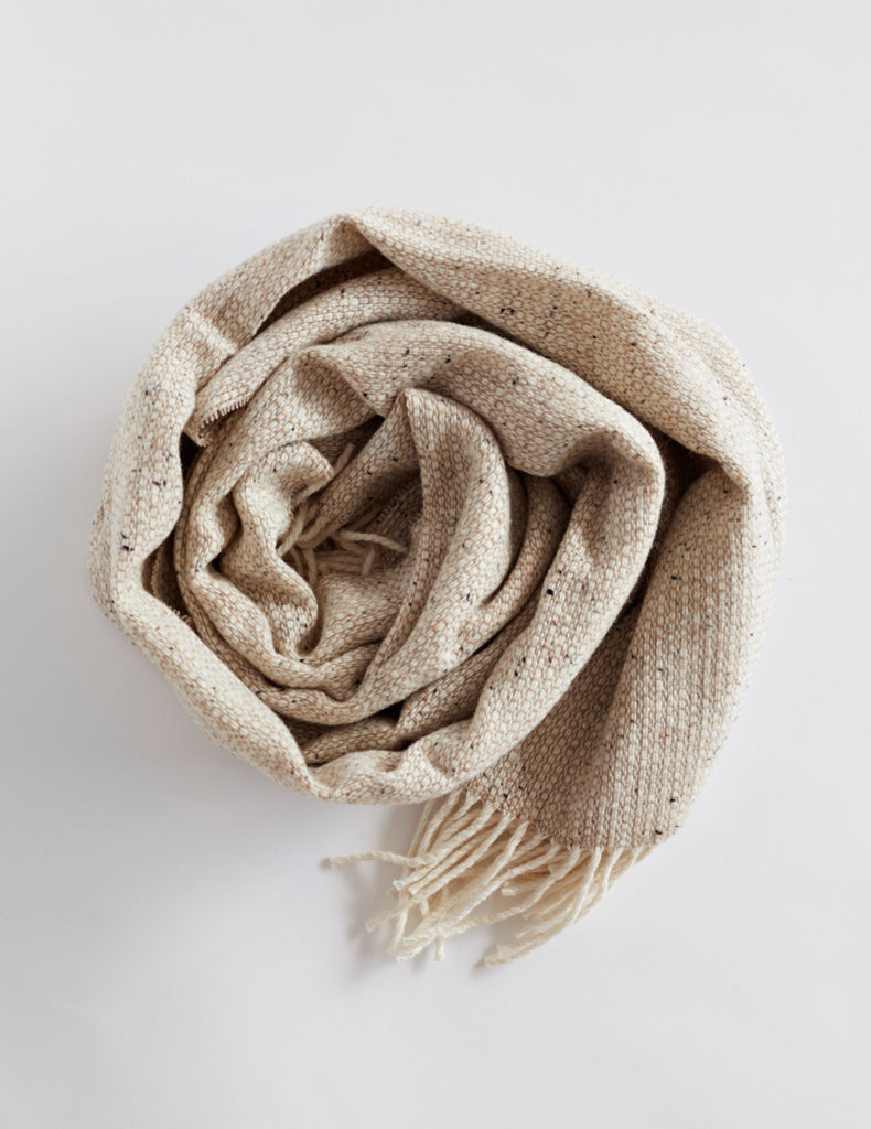 Tweed Emphasize Scarf - Oatmeal - Wide
