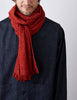Tweed Emphasize Scarf - Graphic Orange - Narrow